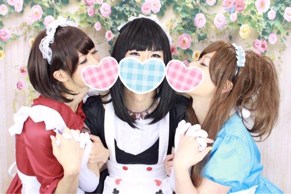 女装友達3人組